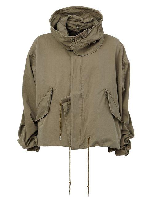 MIHARA YASUHIRO | Мужская Зелёная Мешковатая Куртка С Капюшоном