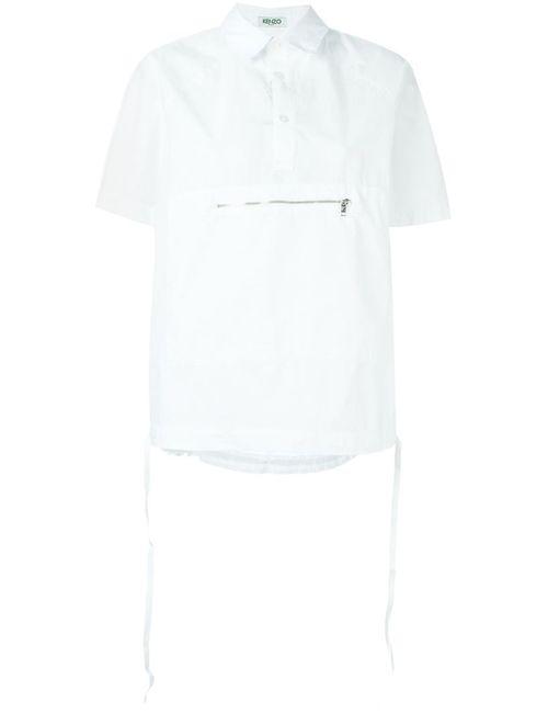 Kenzo | Мужская Белая Рубашка С Молнией