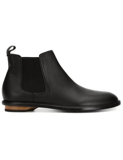 VALAS | Мужские Чёрные Ботинки По Щиколотку На Деревянном Каблуке
