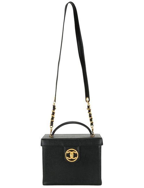 Chanel Vintage | Женский Чёрный Чемоданчик Для Косметики 2way