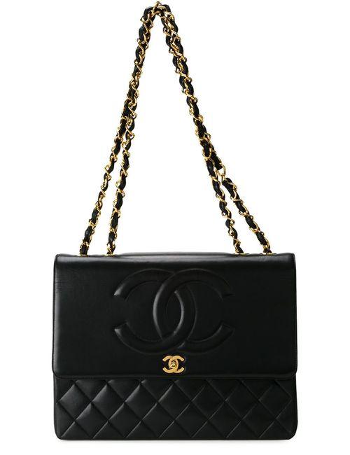 Chanel Vintage | Женская Черный Сумка На Плечо С Тисненым Узором