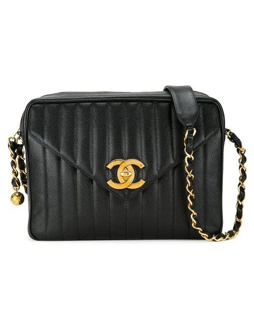 Chanel Vintage | Женская Чёрная Сумка На Плечо Jumbo Xl Mademoiselle