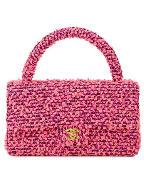 Chanel Vintage | Женская Розовая Твидовая Сумка-Тоут