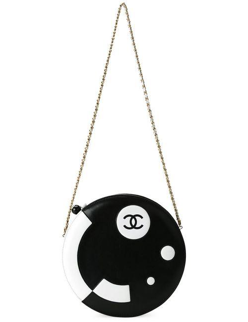 Chanel Vintage   Женская Чёрная Круглая Сумка Через Плечо
