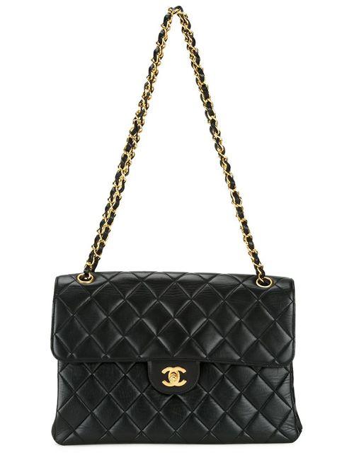 Chanel Vintage | Женская Черный Сумка На Плечо С Откидным Клапаном