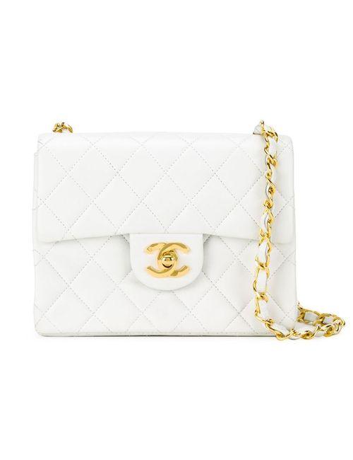 Chanel Vintage   Женская Белая Стеганая Сумка Через Плечо