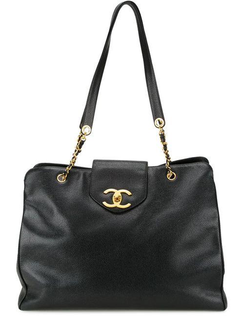 Chanel Vintage | Женская Чёрная Сумка-Тоут Supermodel