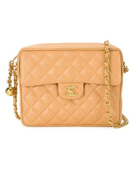 Chanel Vintage | Женская Коричневая Стеганая Сумка Через Плечо