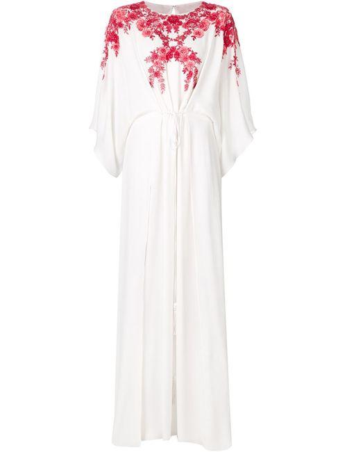Monique Lhuillier | Женское Белое Декорированное Длинное Платье