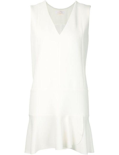 See By Chloe | Женское Белое Платье С Расклешенным Подолом