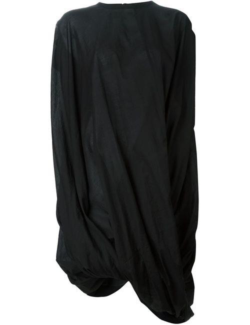 JUNYA WATANABE COMME DES GARCONS | Женское Чёрное Драпированное Асимметричное Платье