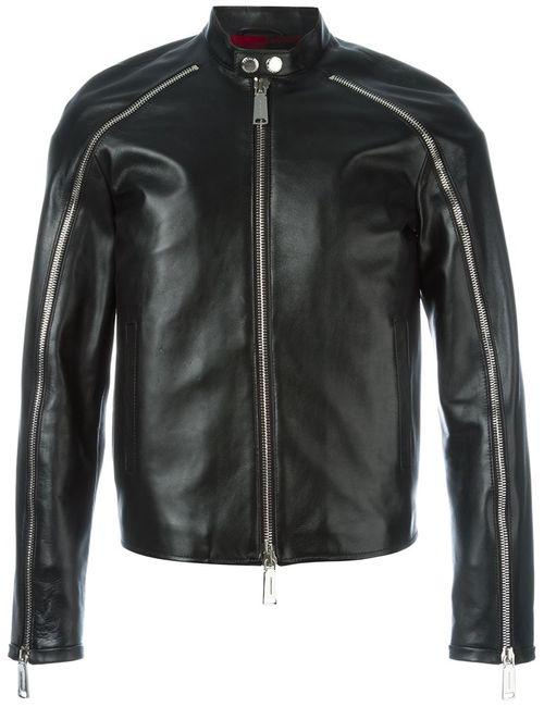Dsquared2 | Мужская Чёрная Куртка На Молнии