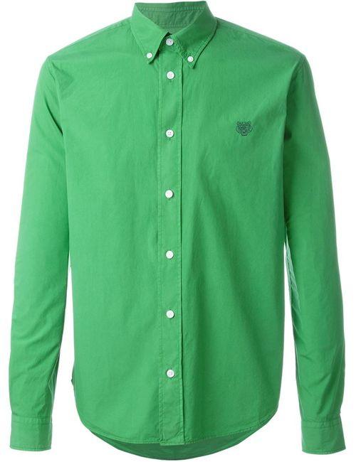 Kenzo   Мужская Зелёная Рубашка Tiger