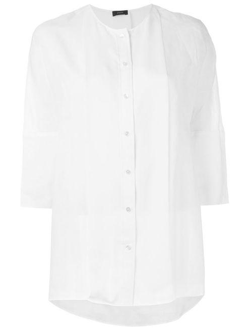 Joseph | Женская Белая Блузка С Передней Панелью