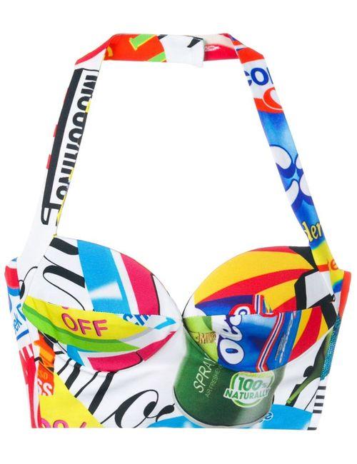Moschino | Женское Белый Logo Print Bustier Top