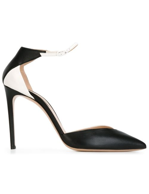 Casadei   Женские Чёрные Двухцветные Туфли