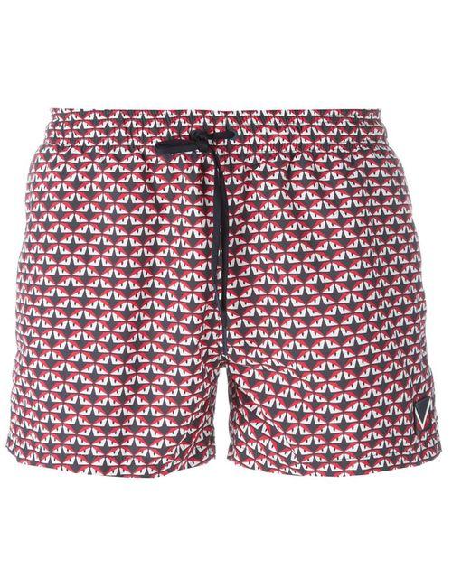 Fendi | Мужские Красные Плавательные Шорты Bag Bugs