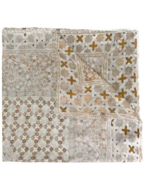 Faliero Sarti | Женское Серый Tile Print Scarf