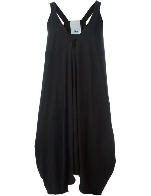 LOST AND FOUND ROOMS | Женское Чёрное Асимметричное Платье C V-Образным Вырезом