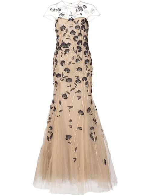 Carolina Herrera   Женское Вечернее Платье С Вышивкой