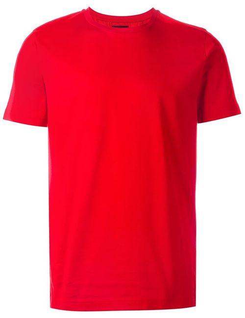 Les Hommes | Мужская Красная Футболка С Круглым Вырезом