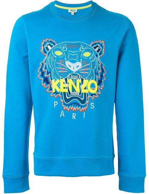 Kenzo | Мужская Синяя Толстовка Tiger