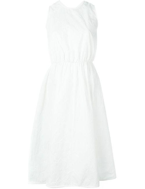 Rochas   Женское Белое Расклешенное Жаккардовое Платье