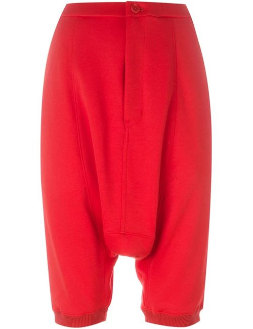 Y-3 | Женское Красный Drop-Crotch Track Shorts