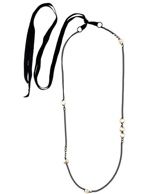 Ann Demeulemeester | Женское Зелёный Crystal Chain Necklace