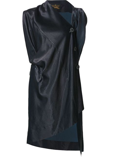 Vivienne Westwood Anglomania | Женское Синее Драпированное Асимметричное Платье