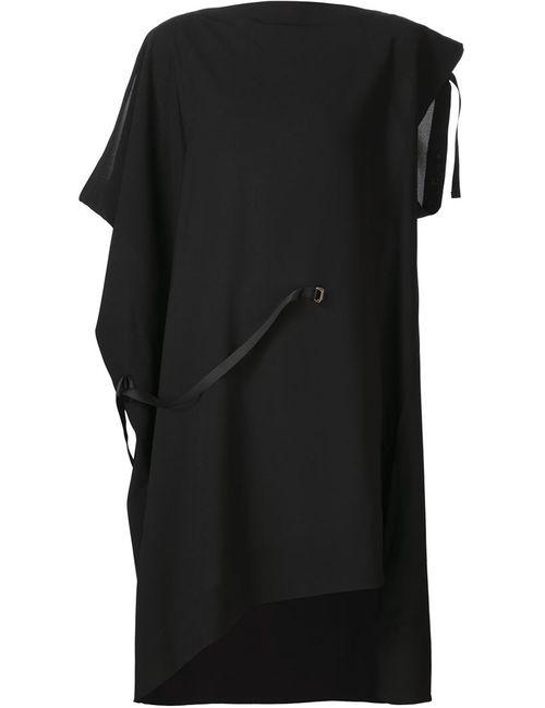 Issey Miyake | Женское Чёрное Асимметричное Платье С Лямками