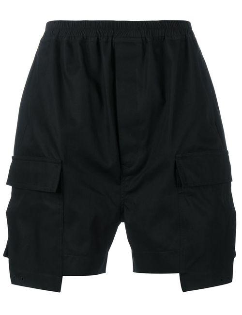 Rick Owens   Мужское Чёрный Cotton Cargo Shorts