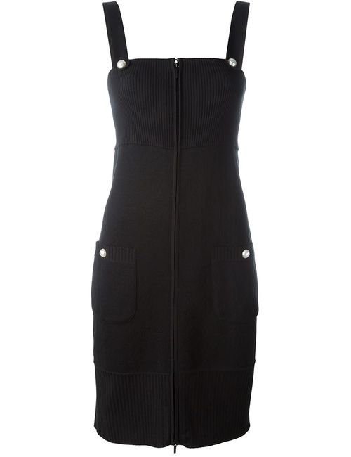 Chanel Vintage   Женское Чёрное Приталенное Трикотажное Платье