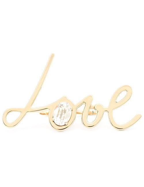 Lanvin | Женское Серебристый Love Double-Finger Ring