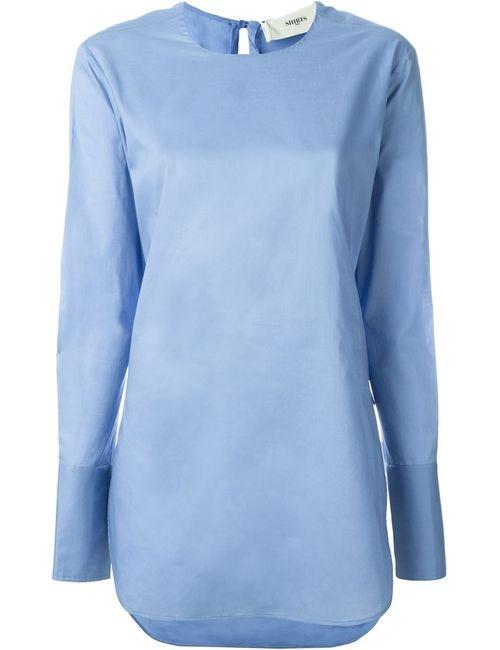Ports   Женская Синяя Блузка С Длинными Рукавами