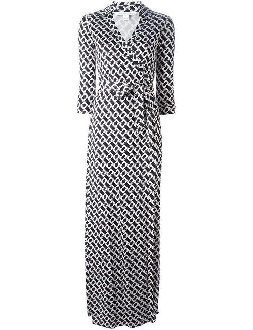 Diane Von Furstenberg | Женский Чёрный Платье-Макси С Запахом