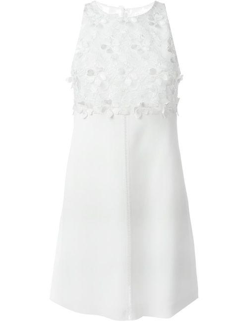 GIAMBA | Женское Белое Платье С Цветочным Кружевом