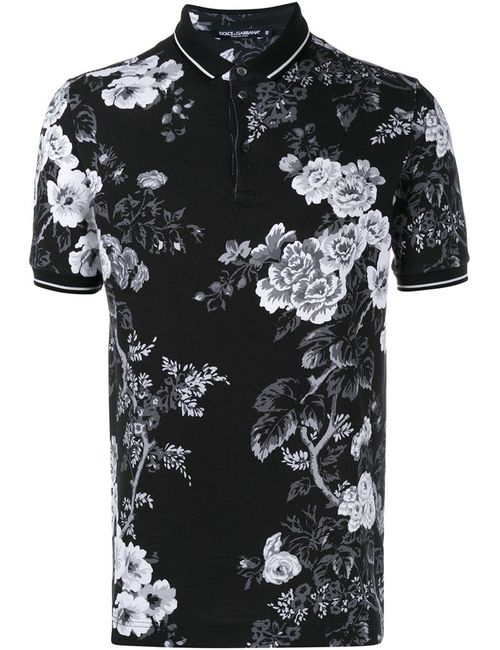 Dolce & Gabbana | Мужское Чёрный Print Polo Shirt