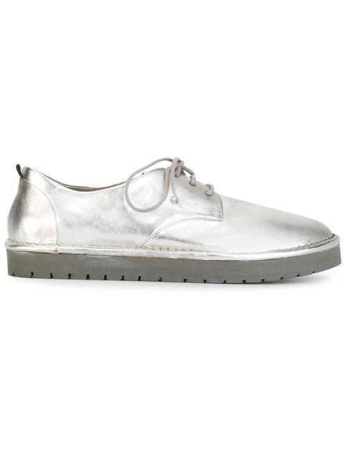 Marsell | Женские Серебристые Ботинки Дерби С Резиновой Подошвой