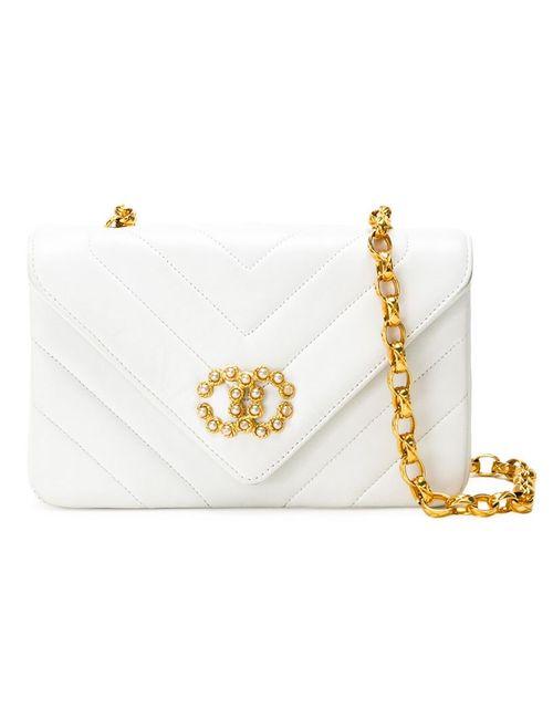 Chanel Vintage | Женская Белая Стеганая Сумка Через Плечо