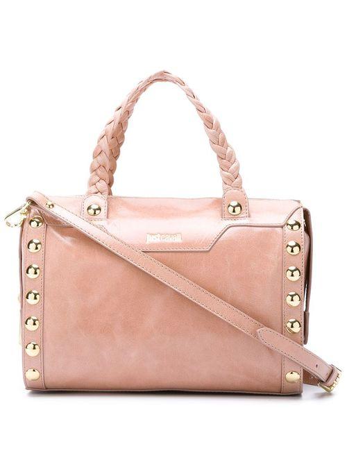 Just Cavalli | Женская Розовая Сумка-Тоут С Плетеными Ручками