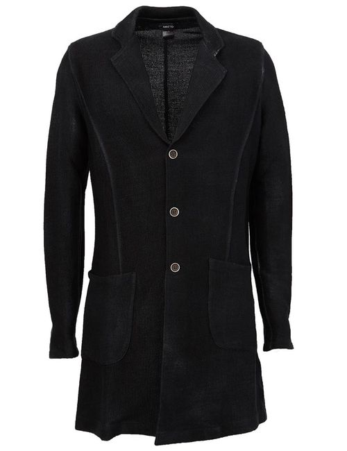 Avant Toi | Мужское Чёрное Однобортное Пальто