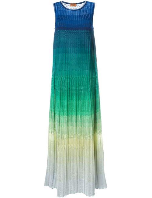 Missoni | Женское Многоцветное Платье С Тонально-Градиентным Эффектом
