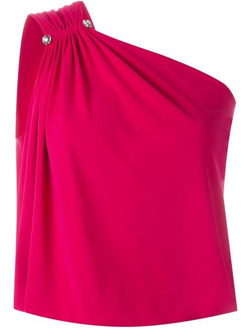 Lanvin | Женский Розовый Топ На Одно Плечо