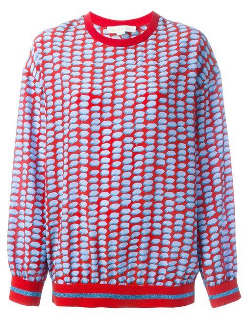 Stella Mccartney | Женская Красная Блузка С Принтом