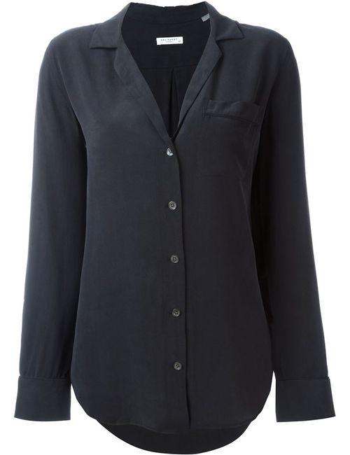 Equipment | Женская Чёрная Классическая Рубашка