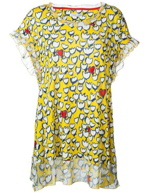 Tsumori Chisato | Женская Жёлтая Блузка С Цветочным Принтом