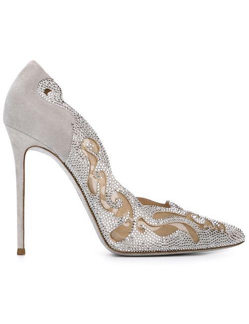 Rene' Caovilla | Женские Серые Декорированные Туфли Electric