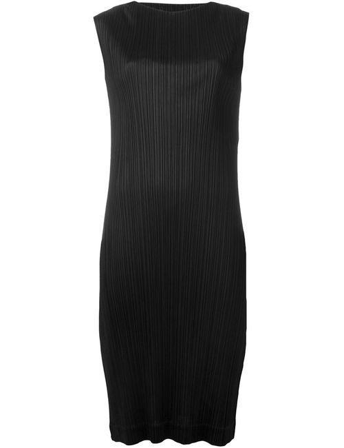 PLEATS PLEASE BY ISSEY MIYAKE | Женское Чёрное Платье С Гофрированным Дизайном