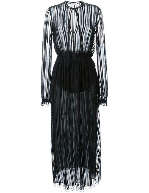 SCANLAN THEODORE | Женское Чёрное Кружевное Платье В Полоску